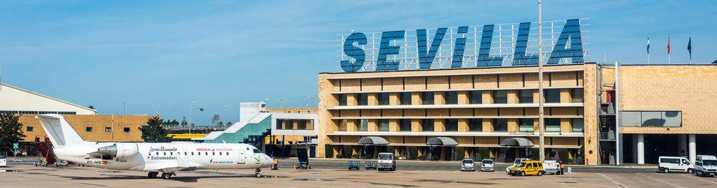 Der Flughafen von Sevilla