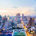 Panorama Blick auf das Business District in Bangkok