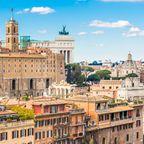 Blick auf den Kapitolinischen Hügel in Rom