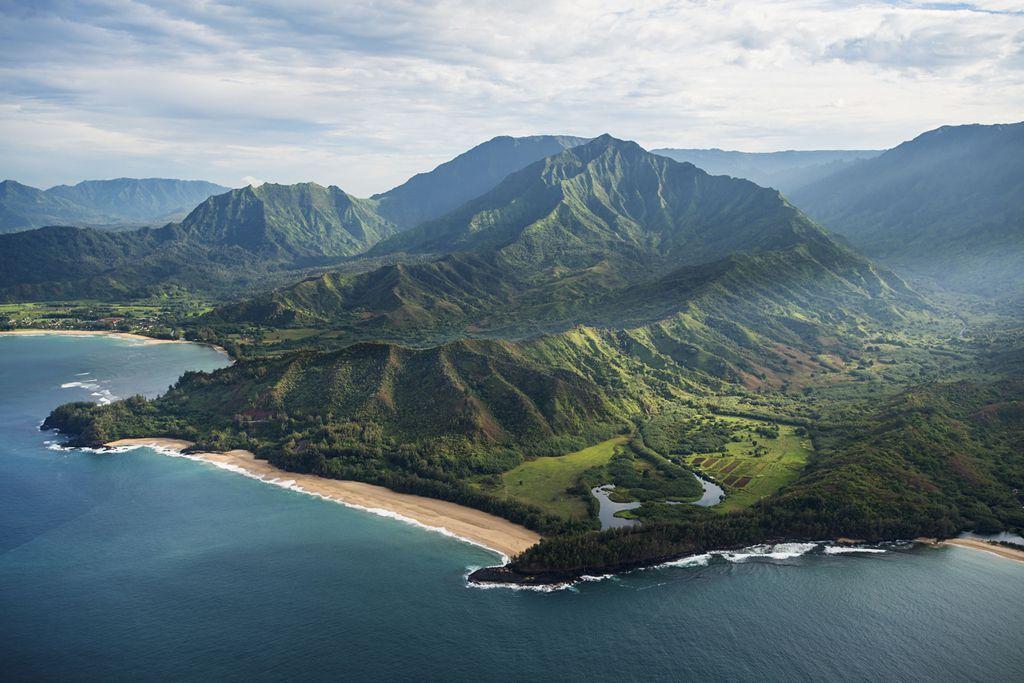 Blick auf die Garteninsel Kauai