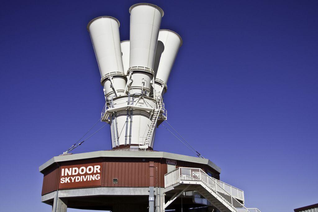 Nichts für Angsthasen: Skydiving im Windtunnel