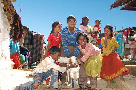 Kinder in Ooty Indien