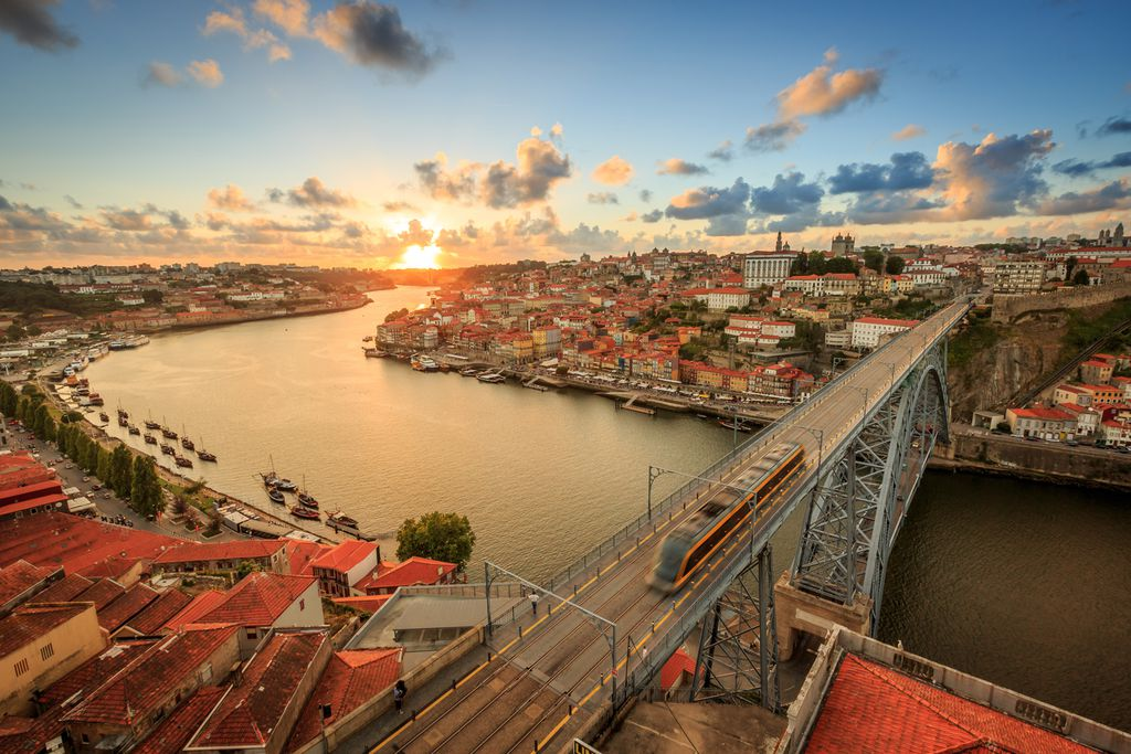Sonnenuntergang über Porto