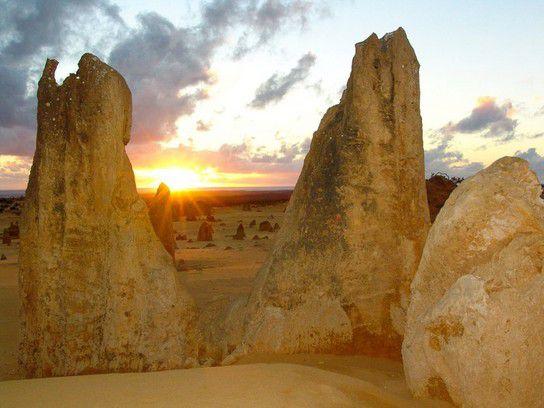Sonnenuntergang bei den Pinnacles