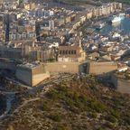 Altstadt von Ibiza aus der Vogelperspektive
