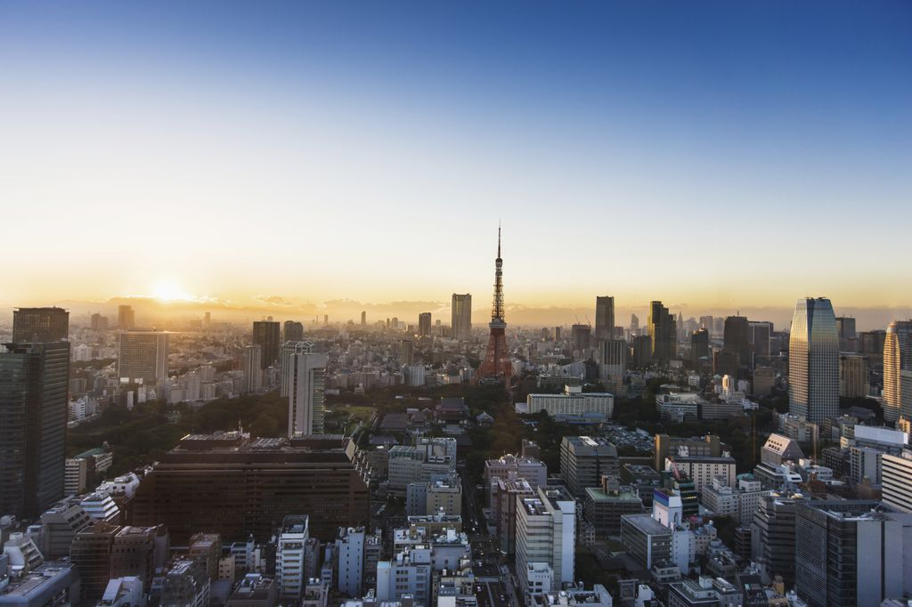 Tokio Sonnenuntergang