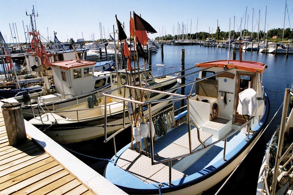 Fischerboot im Hafen von Aarhus