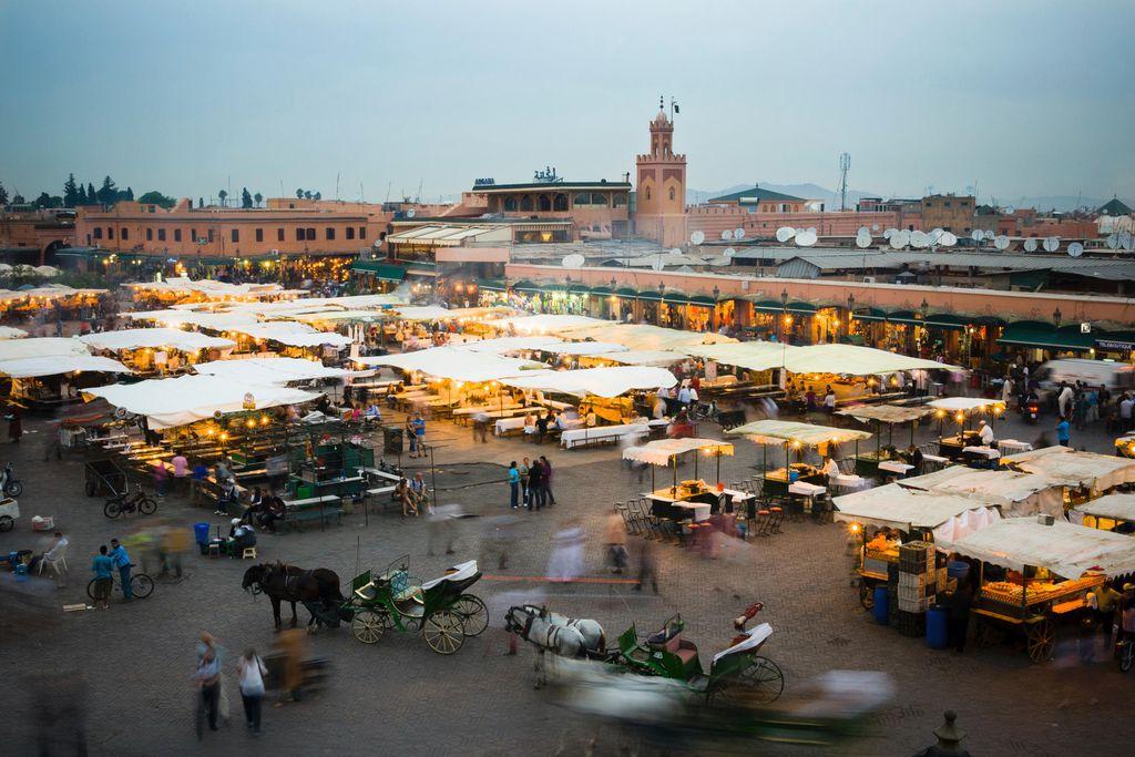 Djemaa el Fna Marktplatz in Marrakesch