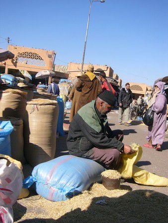 Getreidemarkt in Marrakesch