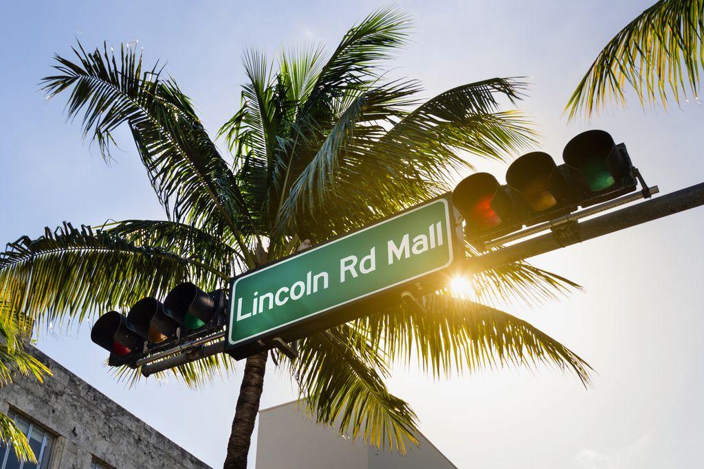 Einkaufsstraße Lincoln Road in Miami Beach