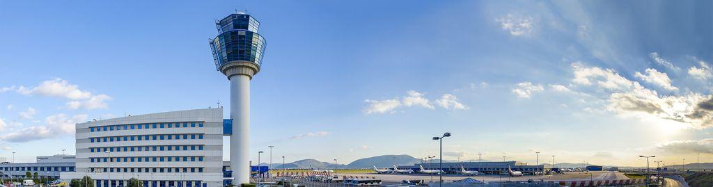 Der Tower des Athener Flughafens