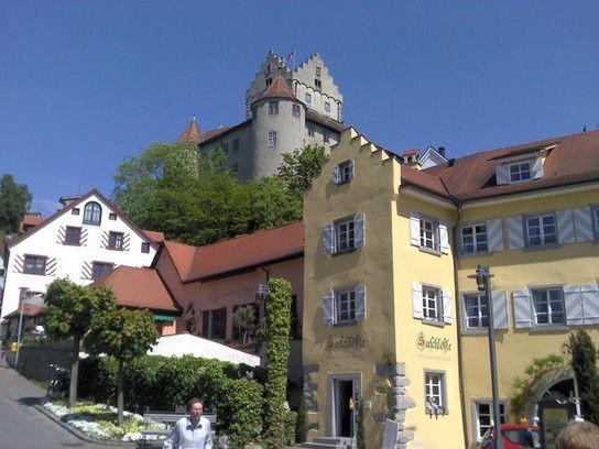 Blick auf Sehenswürdigkeiten von Meersburg