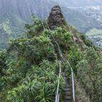 Die Haiku Stairs auf O'ahu