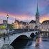 Blick auf das Fraumünster in Zürich