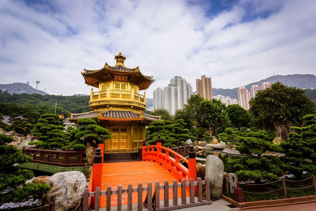 Goldener Tempel im Nan Lian Garden