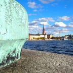 Blick vom Stadshuset auf Stockholm