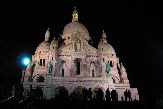 Paris bei Nacht - Sacre Coeur