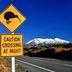 Straßenschild vor dem Mount Ruapehu