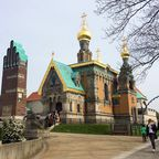 Hochzeitsturm und Russische Kirche auf der Mathildenhöhe