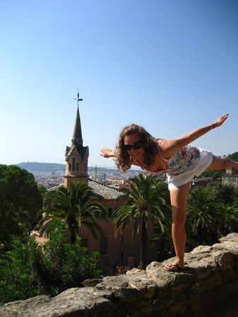 Hoch über Barcelona