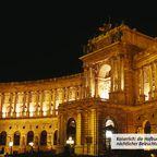Kaiserlich: die Hofburg mit nächtlicher Beleuchtung