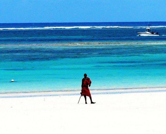 Massai am Strand
