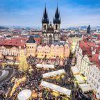 Weihnachtsmarkt in der Prager Altstadt
