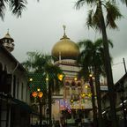 Sultan Mosque im Regen