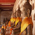 Buddhastatuen in Wat Si Saket