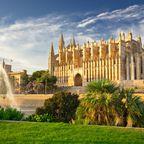 Die Kathedrale La Seu in der Hauptstadt Palma de Mallorca