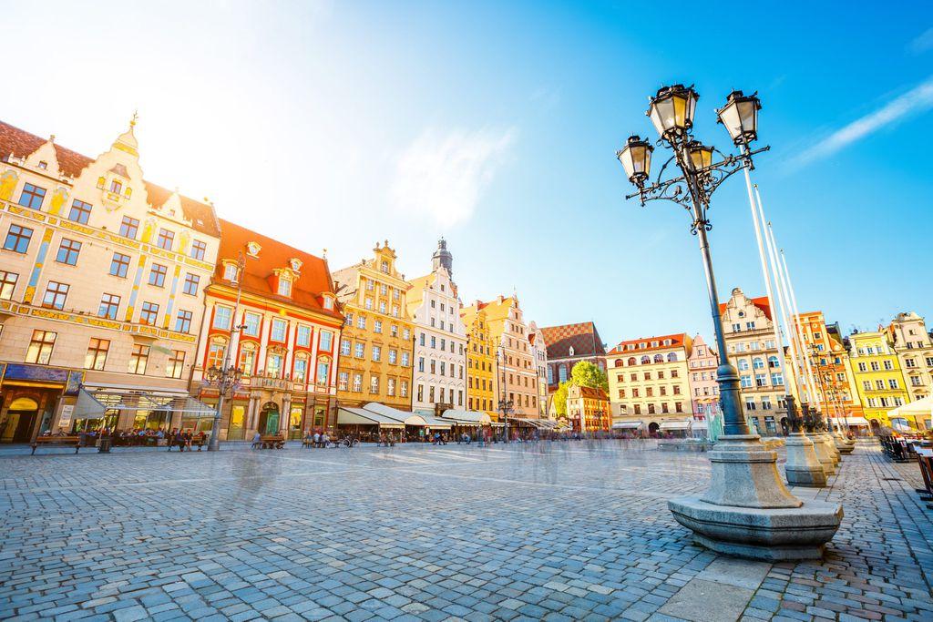 Marktplatz in Breslau, Polen