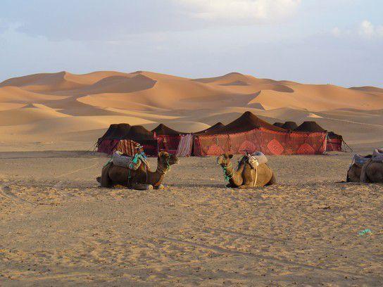 World Nomaden in der Wüste