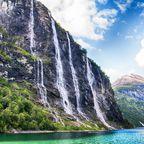 Nicht zu jeder Jahreszeit sind alle der Sieben Schwestern in Norwegen zu sehen