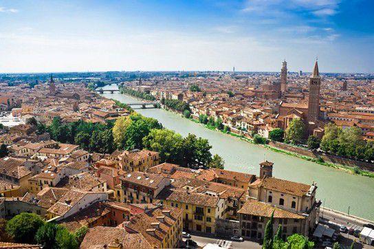 Panorama von Verona, Fluss Adige