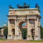 Piazza Sempione und Arco della Pace