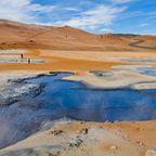Auf Island gilt der Weg der heißen Quellen als einer der berühmtesten Trekkingwege.