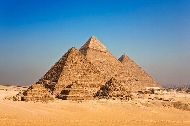 Die Pyramiden von Gizeh zählen zu den sieben Weltwundern der Antike