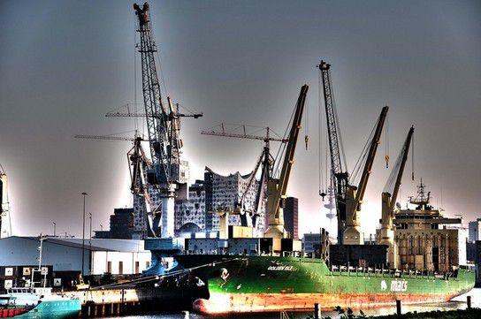 Hamburger Hafenszene