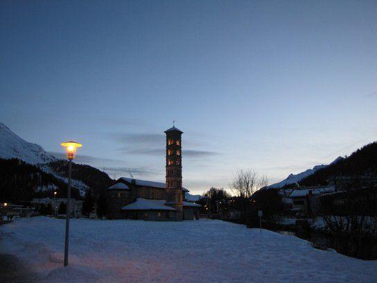 Abend in St. Moritz
