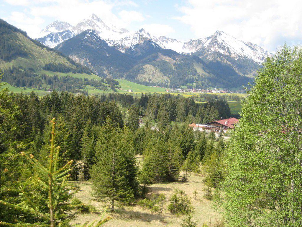 Blick auf Grän und das Tannheimer Tal