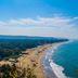 Blick auf einen Strand im Norden Goas