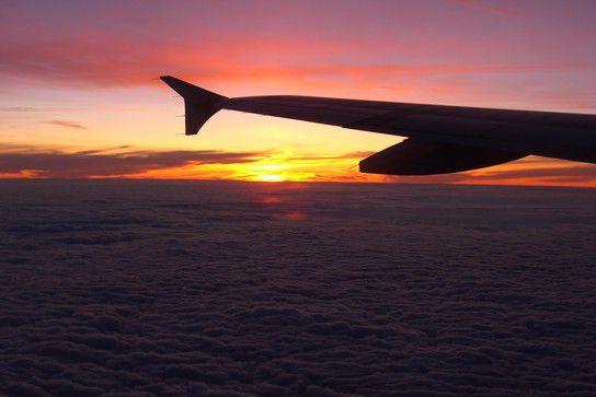 Sonnenuntergang von oben