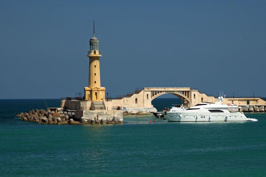 Leuchtturm im Hafen von Alexandria