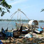 Chinesische Fischernetze in Fort Kochi