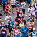 Läufer beim London Marathon