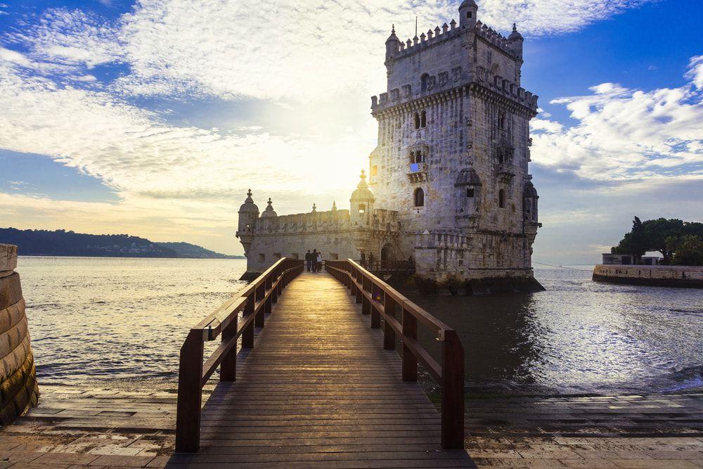 Der Torre de Belem in Lissabon
