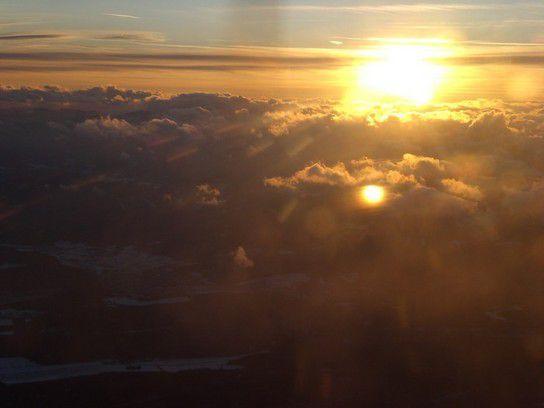 Sonnenuntergang über Österreich