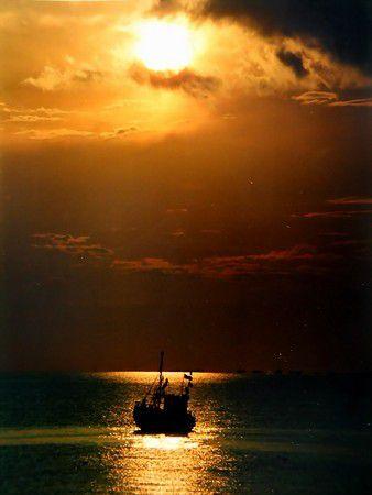 Fischfang bei Mondschein