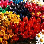 Hölzerne Blumen