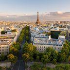Blick von oben auf das 16 Arrondissement